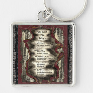 The Dead Are Judged Silver-Colored Square Keychain