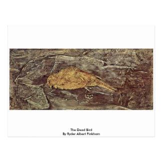 The Dead Bird By Ryder Albert Pinkham Postcard