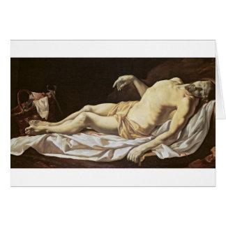 The Dead Christ (oil on canvas) 2 Card