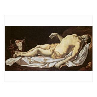 The Dead Christ (oil on canvas) 2 Postcard
