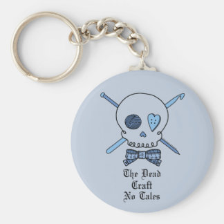 The Dead Craft No Tales (Blue Background) Keychain