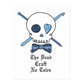 The Dead Craft No Tales (Blue) Postcard