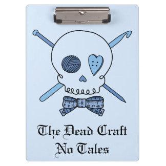 The Dead Craft No Tales - Craft Skull (Blue Back) Clipboard