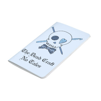 The Dead Craft No Tales - Craft Skull (Blue Back) Journal
