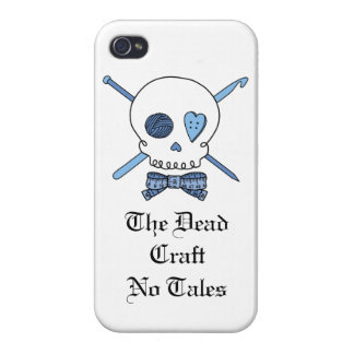 The Dead Craft No Tales - Craft Skull (Blue) iPhone 4/4S Cases