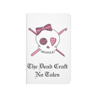The Dead Craft No Tales - Craft Skull (Pink) Journal