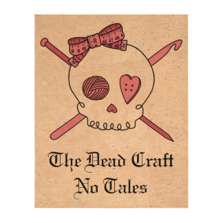The Dead Craft No Tales - Craft Skull Pink Photo Cork Paper