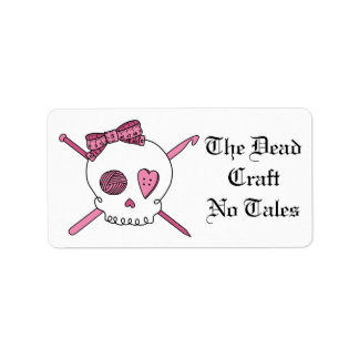 The Dead Craft No Tales (Hair Bow) Address Label
