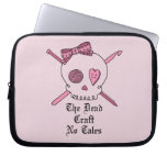 The Dead Craft No Tales (Pink Background) Laptop Sleeves