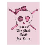 The Dead Craft No Tales (Pink Background) Postcard