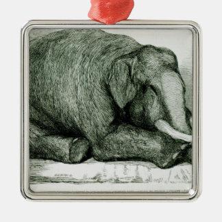 The Dead Elephant Metal Ornament