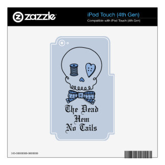 The Dead Hem No Tails (Blue) iPod Touch 4G Decals