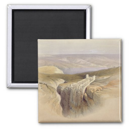 The Dead Sea looking towards Moab, Volume II 2 Inch Square Magnet
