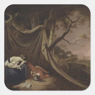 The Dead Soldier, c.1789 (oil on canvas) Square Sticker