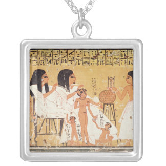 The dead, their family and their servants square pendant necklace