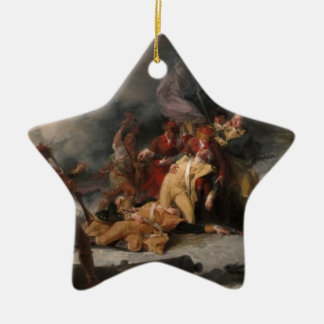 The Death General Montgomery the Attack Quebec Double-Sided Star Ceramic Christmas Ornament
