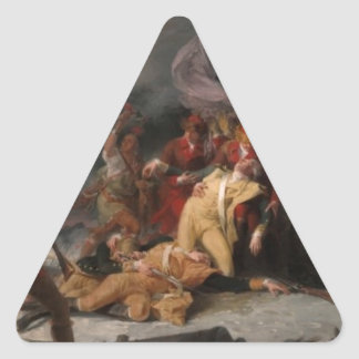 The Death General Montgomery the Attack Quebec Triangle Sticker