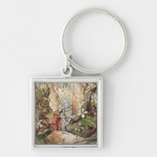 The Death of Cock Robin (w/c on paper) Keychain