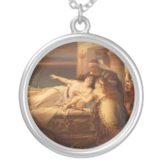 The Death of Dido by Joseph Stallaert 1872 Round Pendant Necklace
