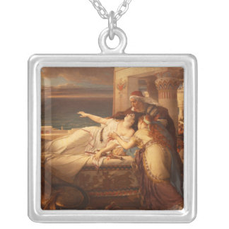 The Death of Dido by Joseph Stallaert 1872 Square Pendant Necklace