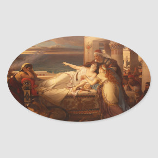 The Death of Dido by Joseph Stallaert 1872 Oval Sticker