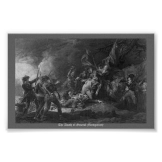 The Death of General Montgomery Poster
