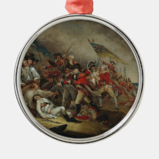 The Death Of General Warren At Bunker Hill Round Metal Christmas Ornament