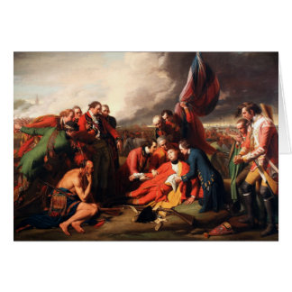 The Death of General Wolfe by Benjamin West 1770 Card