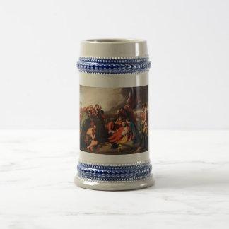 The Death of General Wolfe by Benjamin West 1770 18 Oz Beer Stein