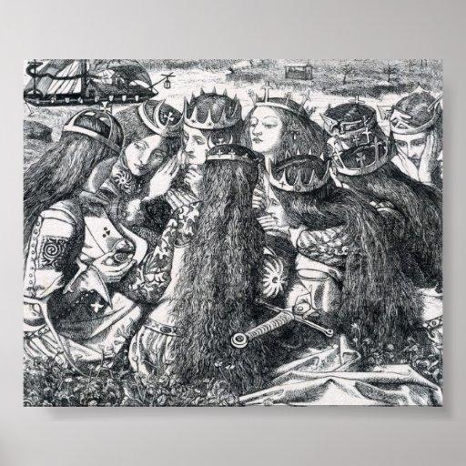 The Death of King Arthur Print