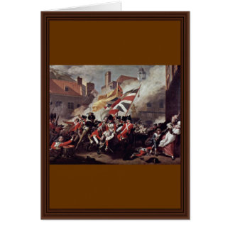 The Death Of Major Peirson By John Singleton Copl Greeting Card