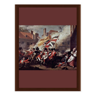 The Death Of Major Peirson By John Singleton Copl Postcard