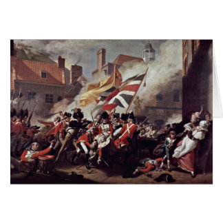 The Death Of Major Peirson By John Singleton Cople Greeting Card