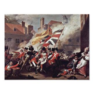 The Death Of Major Peirson By John Singleton Cople 4.25x5.5 Paper Invitation Card