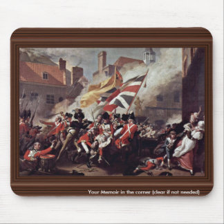 The Death Of Major Peirson By John Singleton Cople Mouse Pad