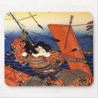 The death of Nitta Yoshioki at the Yaguchi ferry Mouse Pads