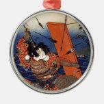 The Death of Nitta Yoshioki at the Yaguchi Ferry Ornaments