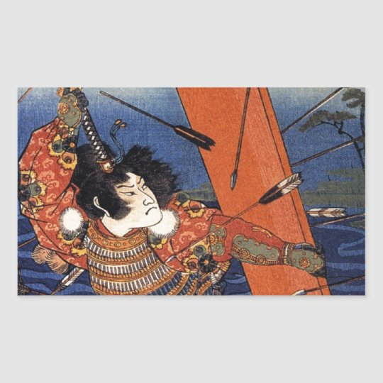 The Death of Nitta Yoshioki at the Yaguchi Ferry Rectangular Sticker
