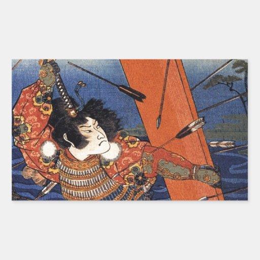 The Death of Nitta Yoshioki at the Yaguchi Ferry Rectangle Sticker