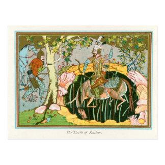 The Death of Rostam Postcard