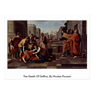 The Death Of Saffira, By Nicolas Poussin Postcard