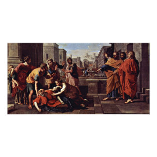 The Death Of Saffira,  By Poussin Nicolas Picture Card