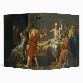 The Death of Socrates by Jacques-Louis David 1787 3 Ring Binder
