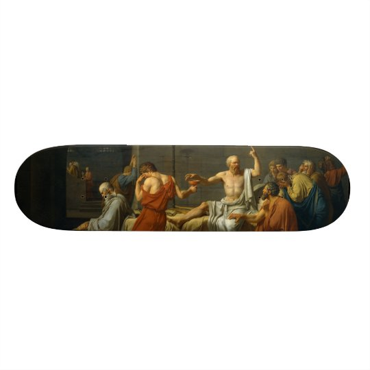 The Death of Socrates by Jacques-Louis David 1787 Skateboard