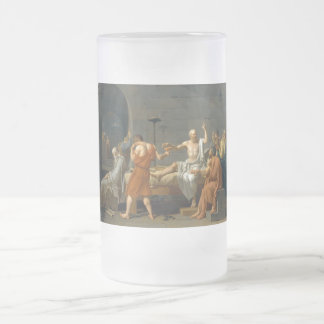 The Death of Socrates by Jacques-Louis David Frosted Glass Beer Mug