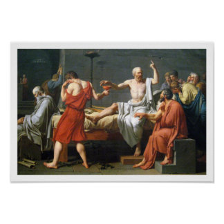The Death of Socrates by  Jacques-Louis David Poster