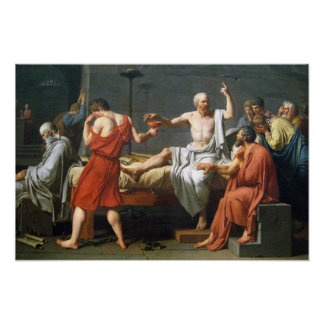 The Death of Socrates by  Jacques-Louis David Posters