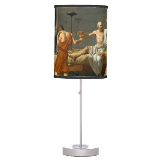 The Death of Socrates by Jacques-Louis David Table Lamp