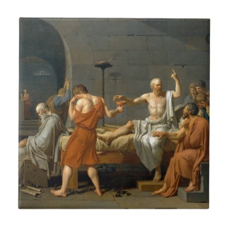 The Death of Socrates by Jacques-Louis David Tile