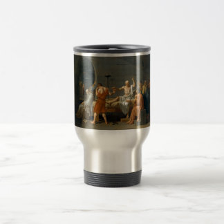 The Death of Socrates by Jacques-Louis David Travel Mug